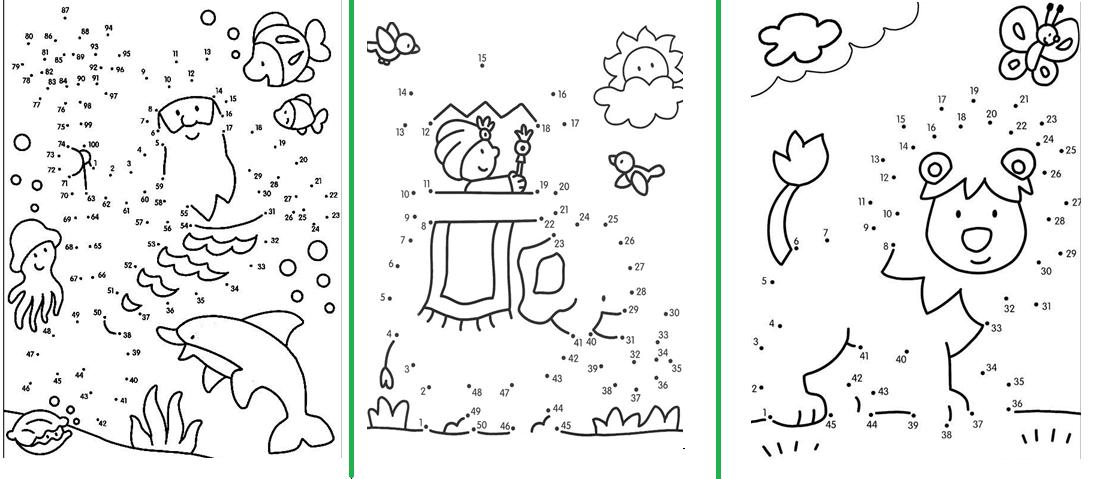Dibujos Para Colorear Con Numeros Del 1 Al 100: Unir Los Puntos 1 Al 100 Y Formar Dibujos