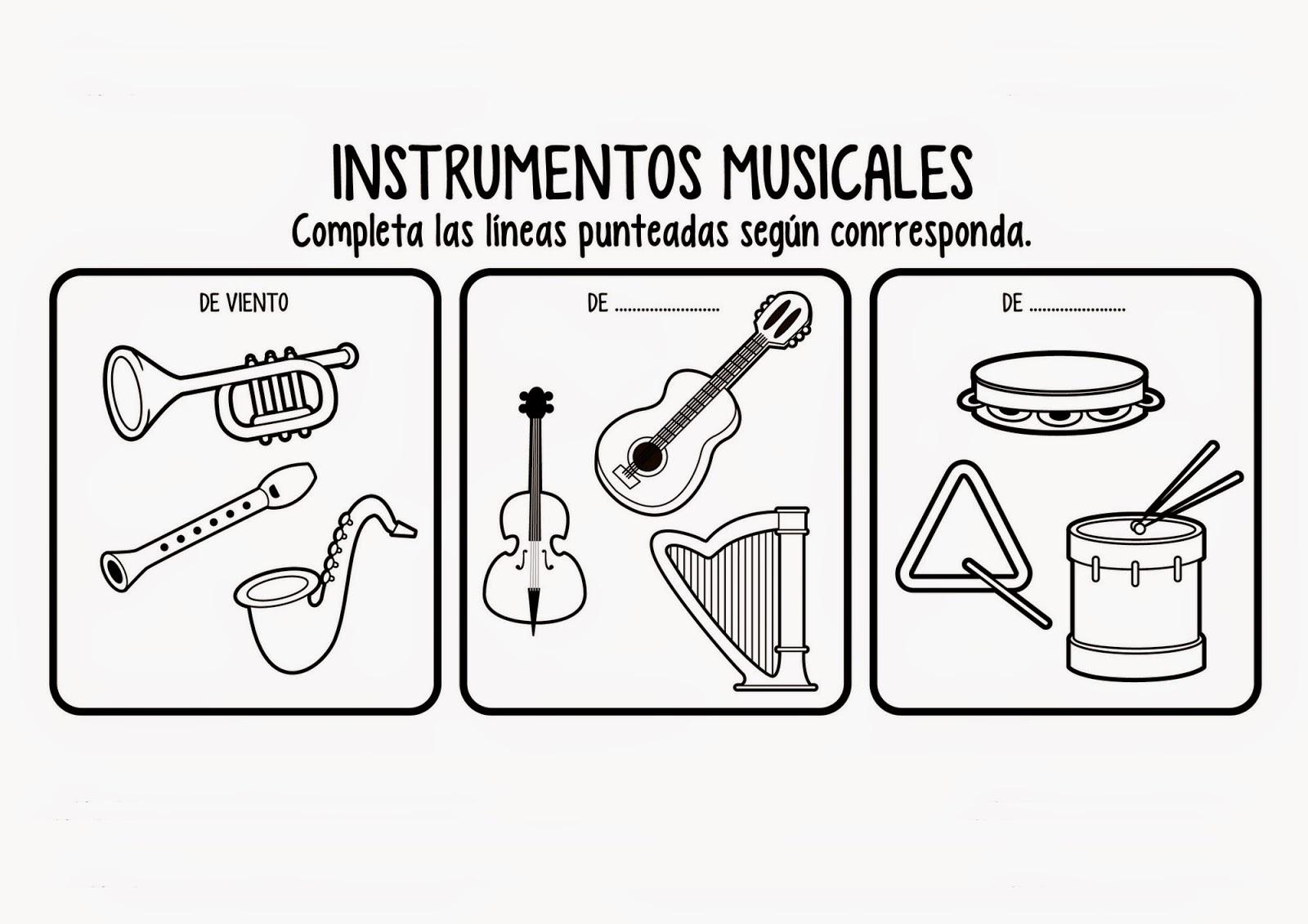Dibujos De Instrumentos Musicales Para Imprimir Y Colorear: Instrumentos Mapuches Para Colorear Para Colorear Mejor
