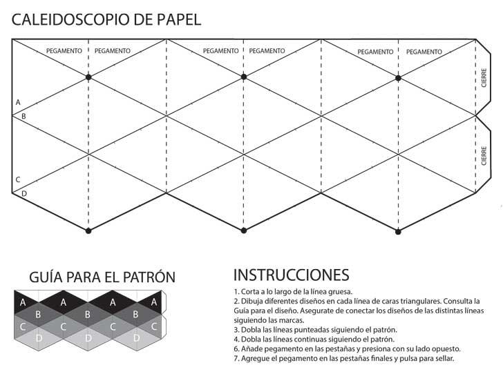 DOCENTECA - Flexagon o Caleidoscopio de papel - Sencillo e increíble!