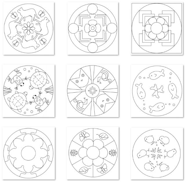 DOCENTECA - Mandalas imprimibles para pequeños - Alta calidad de imagen